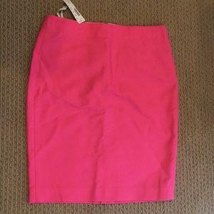 Pink JCREW pencil skirt